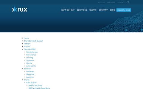 Screenshot of Site Map Page krux.com - Krux Next-Gen DMP - captured Oct. 2, 2015
