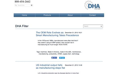 Screenshot of Blog dhafilter.com - DHA Filter | Blog - captured June 3, 2017