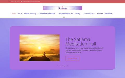 Screenshot of Home Page satiama.com captured Dec. 21, 2015
