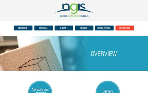 Screenshot of Services Page ngis.com.au - Overview | NGIS - captured Oct. 29, 2014
