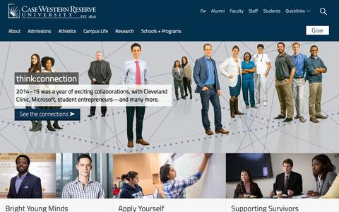Screenshot of Home Page cwru.edu - Case Western Reserve University: One of the nation's best - captured Jan. 13, 2016