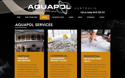 Screenshot of Services Page aquapol.com.au - aquapol | SERVICES - captured Nov. 12, 2018