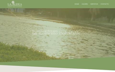 Screenshot of Home Page laaldea.mx - La Aldea - captured Jan. 23, 2016