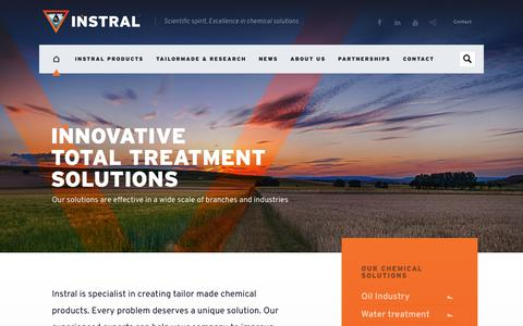Screenshot of Home Page instral.com - Instral, specialist in oil, water, fertilizers & dust control solutions - captured Sept. 25, 2018