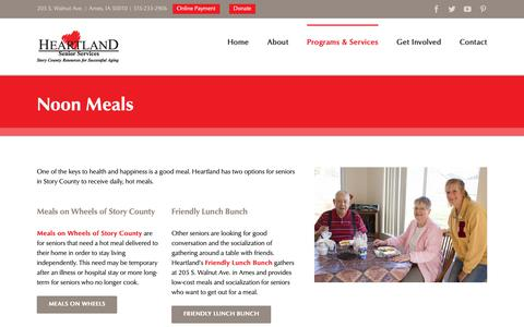Screenshot of Menu Page heartlandseniorservices.com - Noon Meals & Meals on Wheels | Heartland Senior Services | Ames, Iowa - captured Sept. 28, 2018