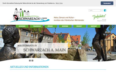 Screenshot of Home Page schwarzach-main.de - Startseite der Marktgemeinde Schwarzach a. Main - captured June 9, 2018