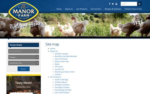 Screenshot of Site Map Page chicken.ie - Site map - captured Oct. 2, 2018