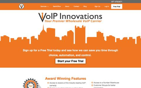 Screenshot of Home Page voipinnovations.com - VoIP Innovations Wholesale VoIP Provider - captured Oct. 14, 2015