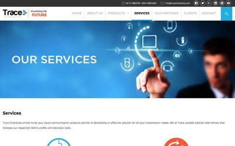 Screenshot of Services Page traceenterprise.com - Services | Trace Enterprise - captured Sept. 21, 2018