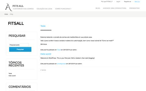 Screenshot of Blog fitsall.com.br - Fitsall - captured Oct. 29, 2014