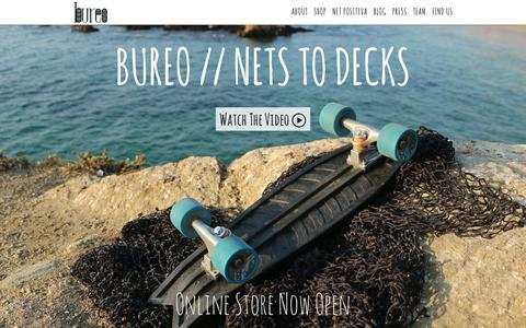 Screenshot of Home Page bureoskateboards.com - Bureo Skateboards - captured Sept. 12, 2014