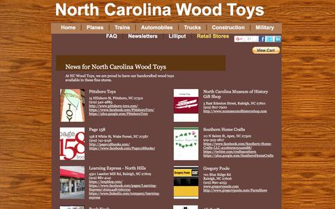Screenshot of Press Page ncwoodtoys.com - News - captured Dec. 3, 2016