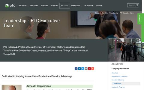 Screenshot of Team Page ptc.com - PTC Executive Team | PTC - captured May 6, 2017