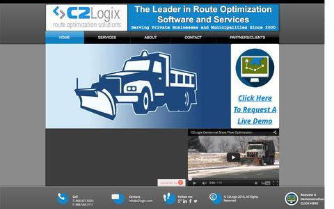 Screenshot of Support Page c2logix.com - C2Logix Route Optimization Solutions - captured July 17, 2015