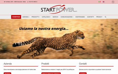 Screenshot of Home Page start-power.com - Start Power S.r.l. | Trasmettere energia è la nostra potenza - captured Oct. 7, 2014