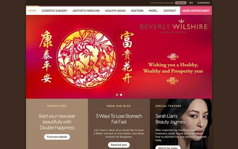 Screenshot of Home Page beverlywilshiremedical.com - Best Plastic Surgery in KL, Malaysia | Beverly Wilshire Medical Centre - captured Feb. 15, 2016
