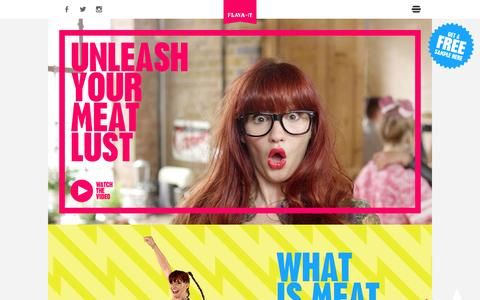 Screenshot of Home Page meatlust.com - Flava It | Unleash Your Meat Lust - captured Jan. 22, 2015