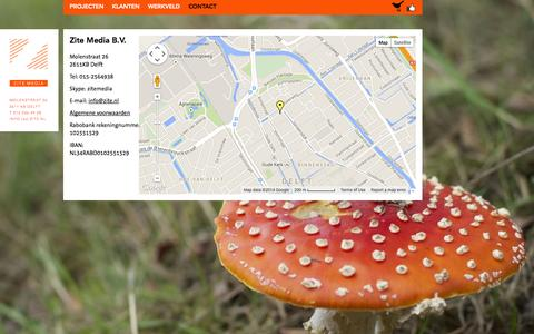 Screenshot of Contact Page zite.nl - Neem contact op met Zite Media - captured Oct. 3, 2014