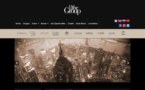 Screenshot of Home Page 11thegroup.com - Locali e Spazi per Eventi Milano > The Group - Location per Eventi a Milano e provincia - captured Sept. 30, 2014