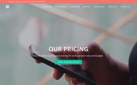 Screenshot of Pricing Page luckae.com - Pricing - Luckae Web Solutions - captured Dec. 15, 2018
