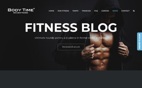 Screenshot of Press Page body-time.ro - Fitness Blog EMS | News Body Time Romania - captured Sept. 23, 2018