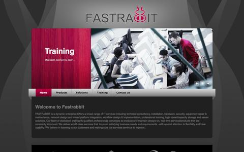Screenshot of Home Page fastrabbit.net - FastRabbit - IT Solutions - captured Sept. 30, 2014