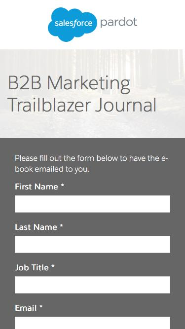 B2B Marketing Trailblazer Journal