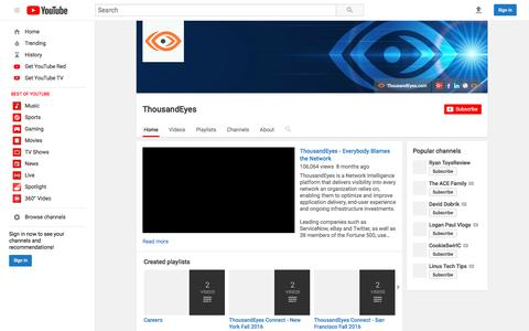 ThousandEyes  - YouTube