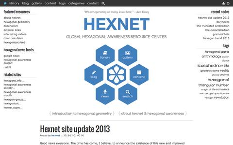 Screenshot of Home Page hexnet.org - Hexnet - captured May 19, 2017