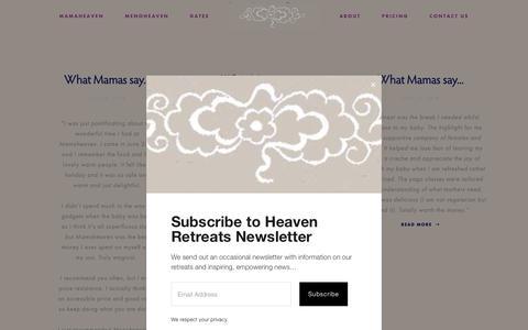 Screenshot of Testimonials Page mamaheaven.org - Testimonials — Mamaheaven & Menoheaven - captured Sept. 27, 2018