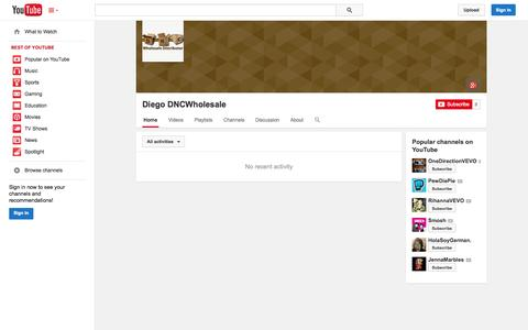 Screenshot of YouTube Page youtube.com - Diego DNCWholesale  - YouTube - captured Oct. 23, 2014