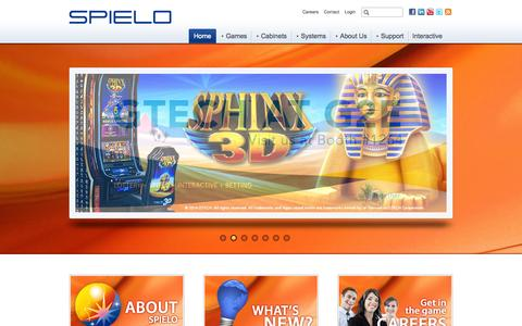 Screenshot of Home Page spielo.com - Frontpage | SPIELO - captured Sept. 19, 2014