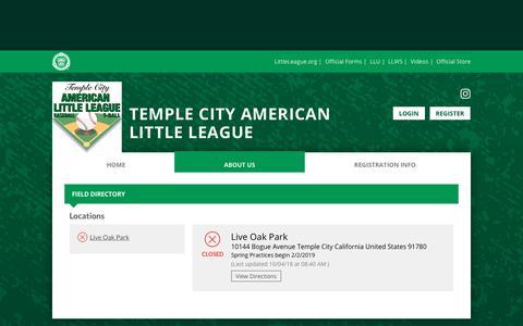 Screenshot of Locations Page bluesombrero.com - Locations - captured Oct. 22, 2018