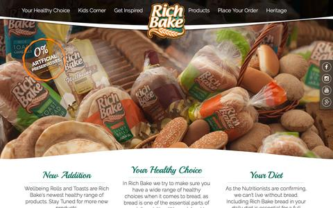 Screenshot of Home Page richbake.com - Home | RichBake - captured March 16, 2016