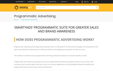 Screenshot of smartyads.com - Programmatic Advertising Platform - SmartyAds - captured May 31, 2017