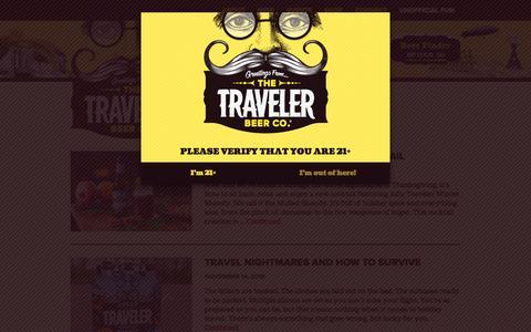 Screenshot of Blog travelerbeer.com - Blog - Traveler Beer Company - captured Dec. 6, 2016