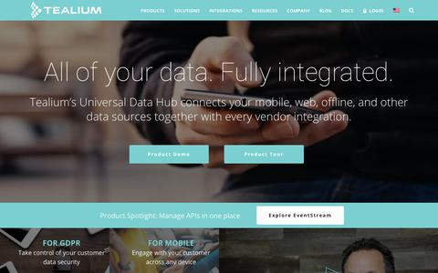 Tealium – Tag Management and Audience Segmentation