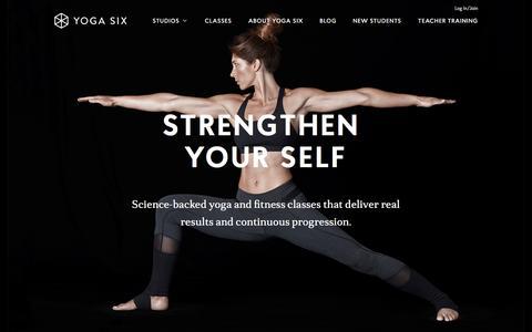 Screenshot of Home Page yogasix.com - Home - Yoga Six - captured June 25, 2016