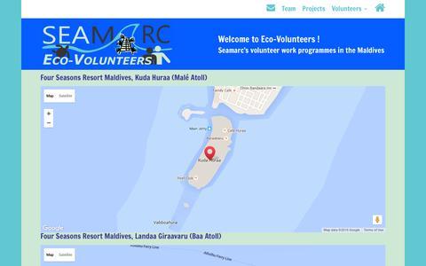 Screenshot of Maps & Directions Page seamarc.com - Seamarc - Booking Enquiry & Volunteer Programme Details - captured July 23, 2016