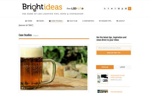 Screenshot of Case Studies Page ledhut.co.uk - Case Studies | Bright Ideas from LED Hut - captured Nov. 23, 2015