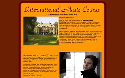 Screenshot of Home Page musiccourse.nl - Musiccourse homepage - captured Oct. 6, 2014