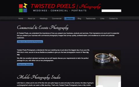 Screenshot of Services Page twistedpixelsphotography.com - Twisted Pixels | Photography - Services - captured Aug. 4, 2015