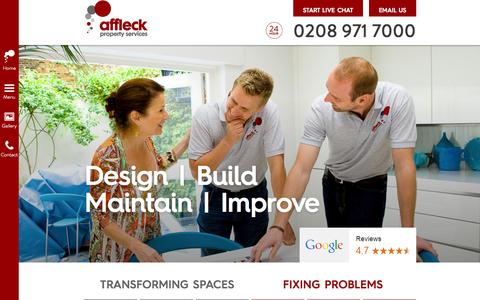Screenshot of About Page affleckservices.co.uk - Affleck Property Services | London - captured Oct. 4, 2014