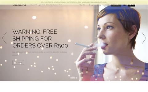 Screenshot of Contact Page digicig.co.za - Electronic Cigarettes: Electronic Cigarettes Cape Town | digicig - captured Nov. 3, 2014