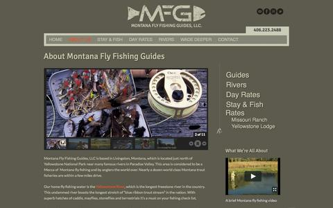 Screenshot of About Page montanaflyfishingguides.com - About Montana Fly Fishing Guides - Montana Fly FishingMontana Fly Fishing Guides, LLC. - captured Oct. 26, 2014