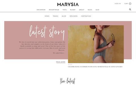 Screenshot of Blog marysia.com - Editorial   Marysia Swimwear - captured July 10, 2018