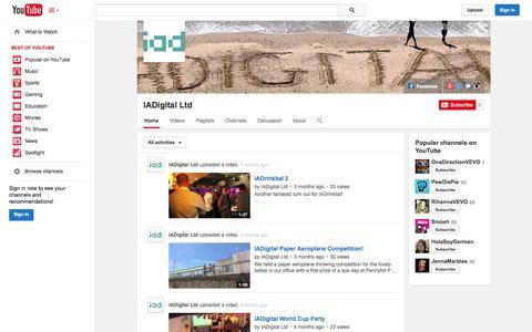 Screenshot of YouTube Page youtube.com - IADigital Ltd  - YouTube - captured Oct. 23, 2014