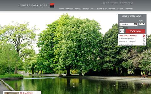 Screenshot of Jobs Page herbertparkhotel.ie - Careers at Herbert Park Hotel | Hotels in Ballsbridge | Official Site - captured July 18, 2018