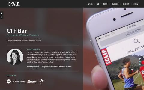 Screenshot of Home Page bkwld.com - BKWLD - Welcome - captured Oct. 7, 2015
