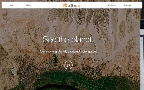 Screenshot of Home Page urthecast.com - Urthecast - See the planet. Open the world. - captured Feb. 2, 2016
